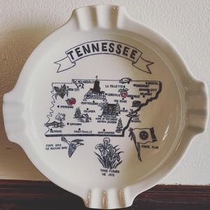 Vintage Tennessee Lover's Ashtray / Decor